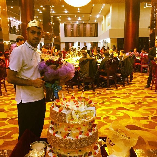 عکس/ جشن تولد باشکوه باشگاه چینی برای پورعلی گنجی