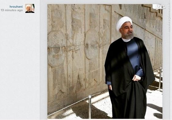 عکس/ بازدید رئیس جمهور از تخت جمشید
