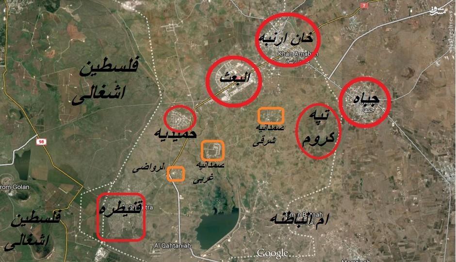 تحولات میدانی جبهه جنوب ، تحولات میدانی جبهه ادلب ، تحولات میدانی جبهه حلب