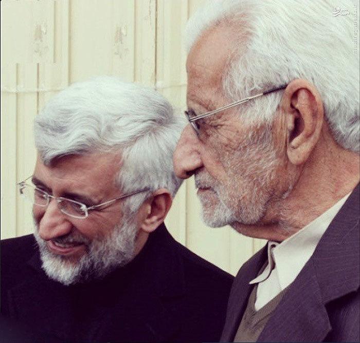 عکس/ سعید جلیلی در کنار پدرش