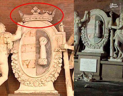 عکس/تخریب مجسمه تاریخی بخاطر عکس سلفی