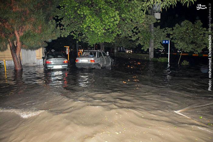 آب گرفتگی خیابان های مشهد
