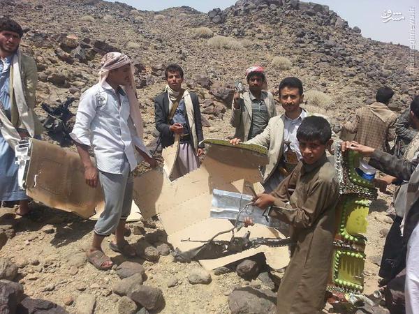عکس/ لاشه اف 16 ساقط شده مغربی در یمن