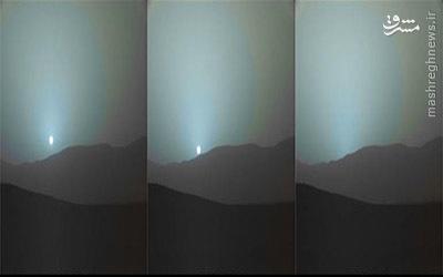 غروب آبی خورشید در مریخ +عکس