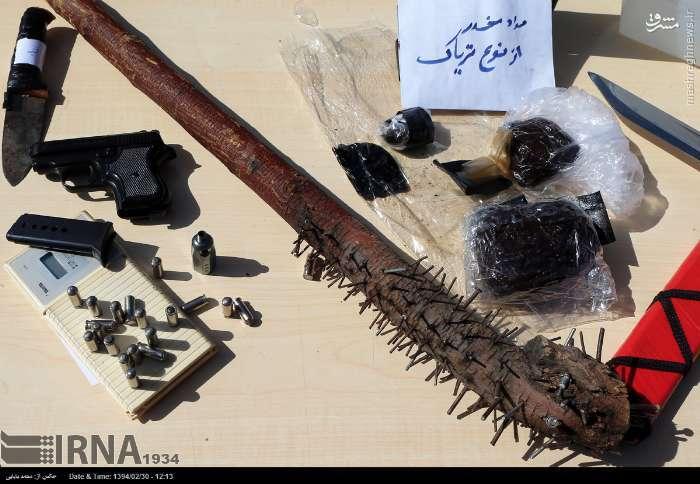 عکس/سلاح عجیب یک اوباش تهرانی