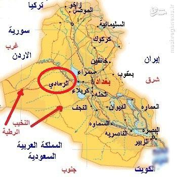 تقسیمبندی داعش در الرمادی/ سه دلیل اصلی سقوط الانبار/ درخواست دولت از حشد الشعبی برای بازپسگیری شهر/ امدادرسانی شیعیان کربلا به اهلسنت الرمادی +نقشه، فیلم و عکس