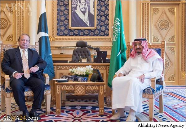 اعلام همبستگی نواز شریف با شاه سعودی+عکس