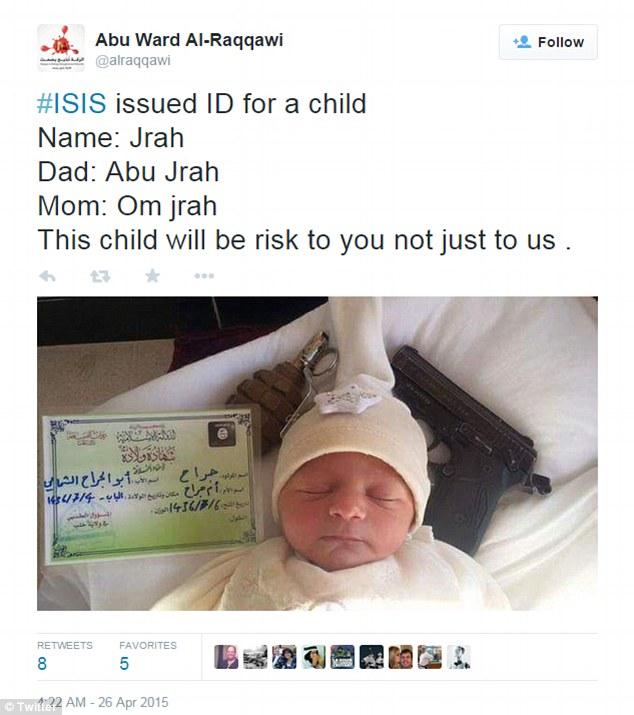 داعشی تازه متولد شده+تصاویر