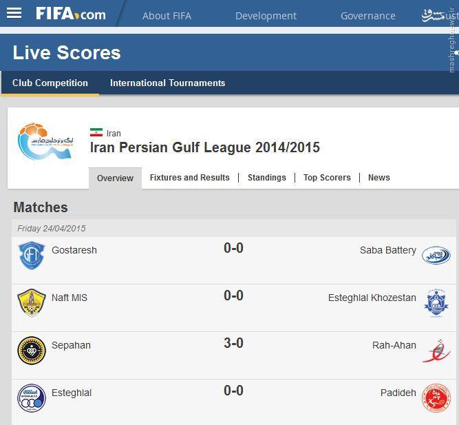 ثبت لوگوی لیگ برتر جام خلیج فارس در سایت فیفا