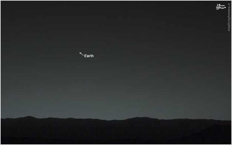از مریخ هم زمین اینگونه دیده میشود