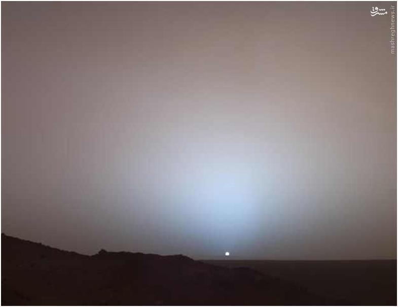 از مریخ، خورشید اینگونه دیده میشود