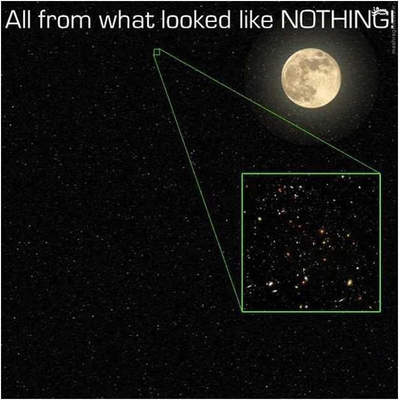 ستاره شناسان بر این باورند که برخی از کهکشانها از انفجارهای عظیمی به وجود آمدهاند که صدها میلیون سال قبل رخ دادهاند و توجه داشته باشید که این تصویر بخش بسیار کوچک از این هستی است و ما واقعا در کجای این هستی قرار داریم.