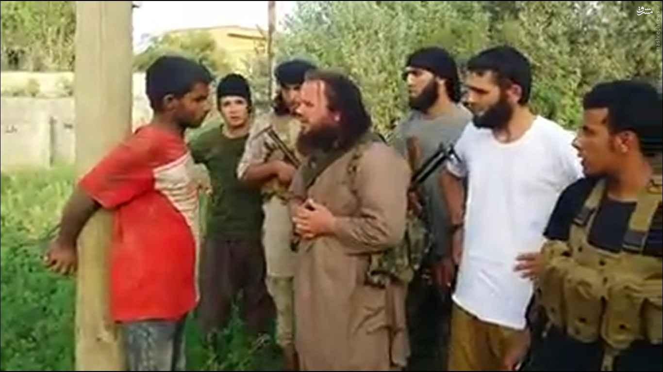 اعدام جوان سوری بدست تروریست آلبانیایی عضو داش با آر پی جی! (تصاویر و ویدیو +18)