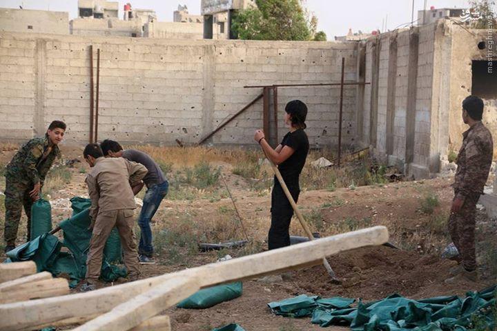 تظاهرات ساکنین غوطه شرقیه علیه زهران علوش/فرار دسته جمعی خانواده ها از حکومت جیش الاسلام