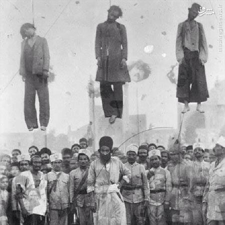 عكسی از یك اعدام در زمان قاجار/عكس
