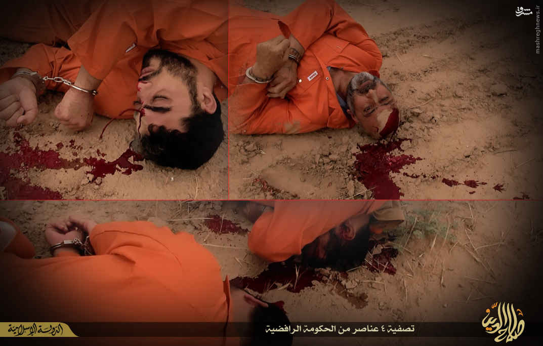 اعدام 4 پلیس سنی به دست داعش