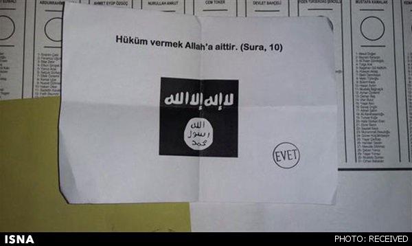 رای دادن یک شهروند ترک به داعش+عکس