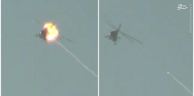 خودکشی خلبان بالگرد سوری در سویداء+تصاویر