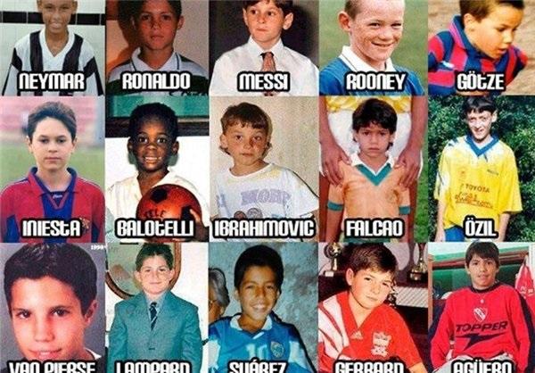 عکس/ ستارههای دنیای فوتبال در کودکی
