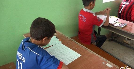 امتحان دبیرستان داعش+عکس