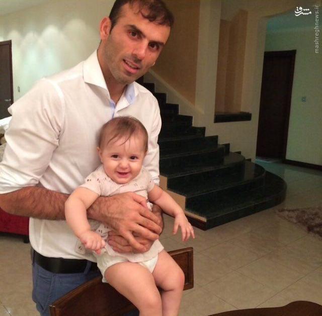 عکس/ مدافع جدید پرسپولیس همراه با فرزند دوستداشتنیاش