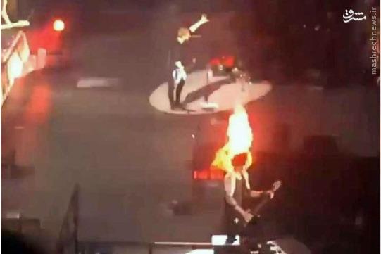 حادثه وحشتناک در اجرای زنده کنسرت + عکس