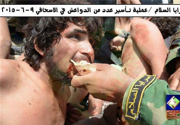 رفتار انسانی «سرایا السلام» با داعش+تصاویر