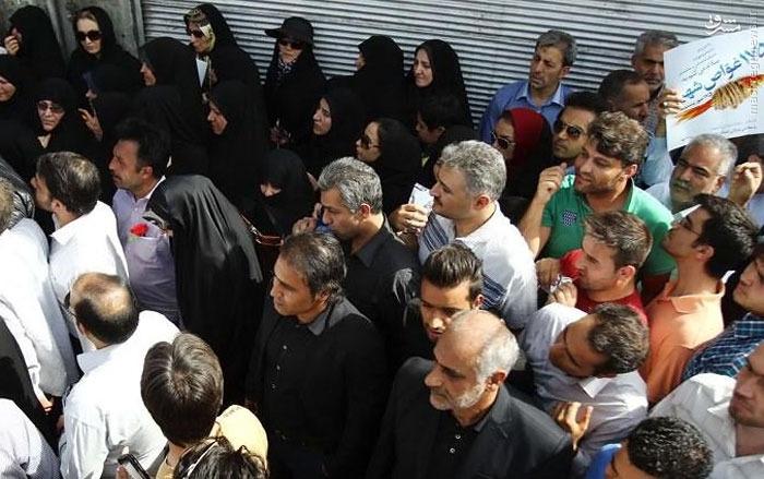 عکس/ مهدوی کیا در مراسم تشییع شهدای غواص