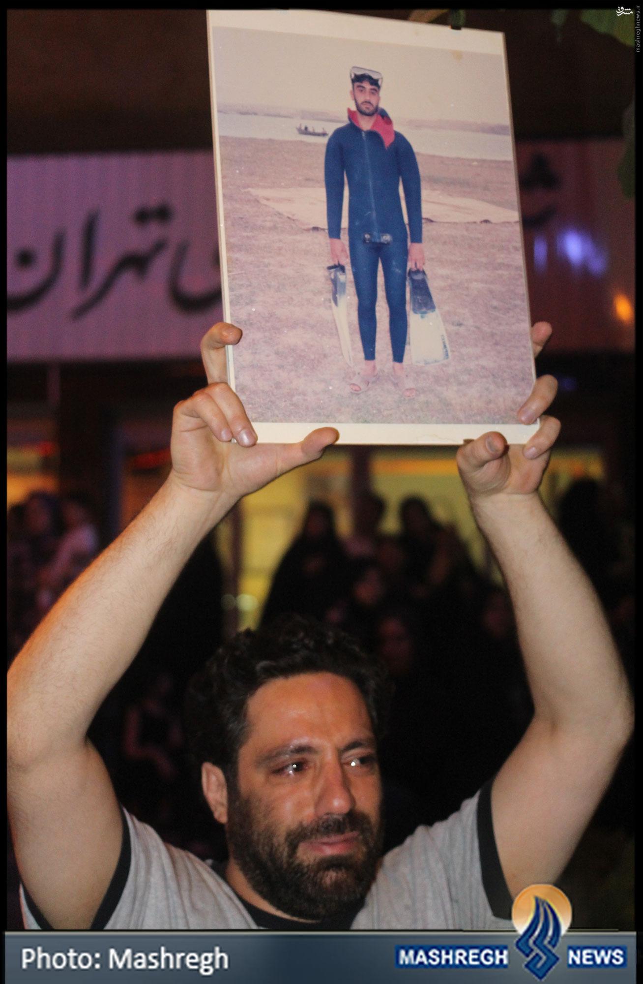 داستانی کوتاه در حاشیهی تشییع غواصان+عکس