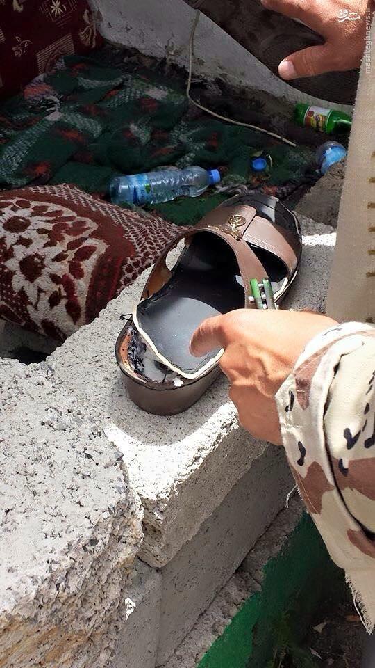 کشف دمپایی بمبگذاری شده در صنعا + عکس