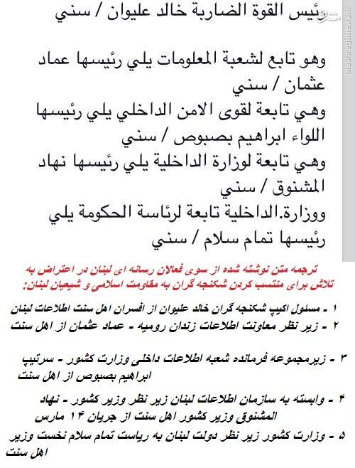 بجران در لبنان در پی انتشار تصاویر شکنچه تروریستها در زندان رومیه+عکس و فیلم