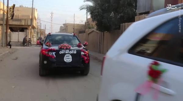 کاروان عروسی داعش در رقه سوریه+تصاویر