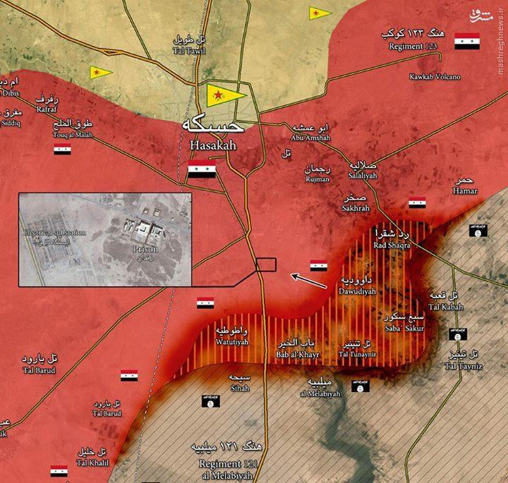 ادامه درگیریها در حسکه/بازپس گیری حی غویران از داعش/بازدید وزیر دفاع سوریه از حسکه/توقف پیشرویهای کردها در تل ابیض
