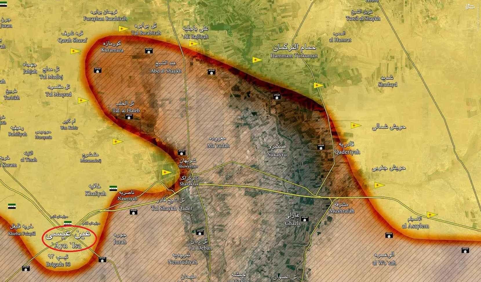 ادامه درگیریها در حسکه/پاتک سنگین ارتش و گروههای هم پیمان در محلات جنوب شهر/بازپس گیری حی غویران از داعش/بازدید وزیر دفاع سوریه از حسکه/توقف پیشرویهای کردها در تل ابیض