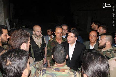 بازدید نخست وزیر سوریه از جبهه های نبرد حلب+تصاویر