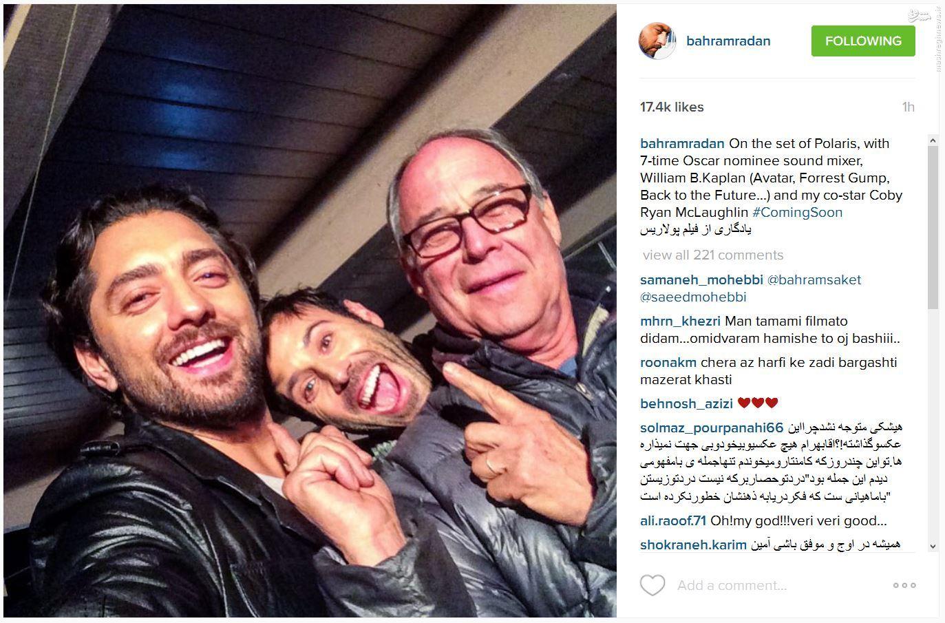 عکس/ سلفی بازیگر ایرانی در فیلم آمریکایی