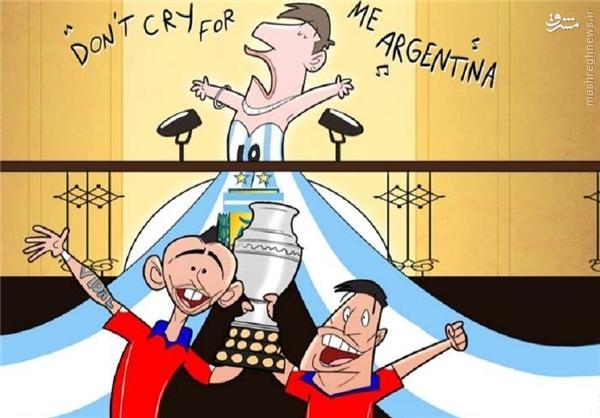 کاریکاتور/ ناکامی مسی با آرژانتین