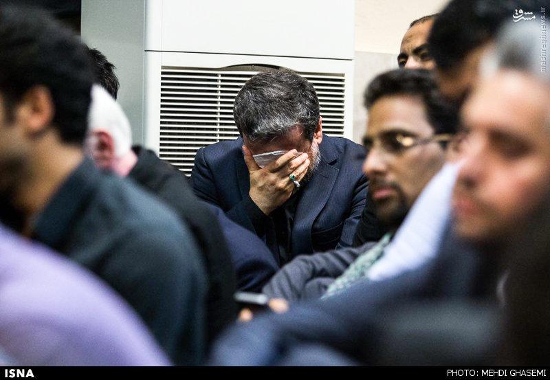 عکس/ اشکهای عراقچی در مراسم شب قدر
