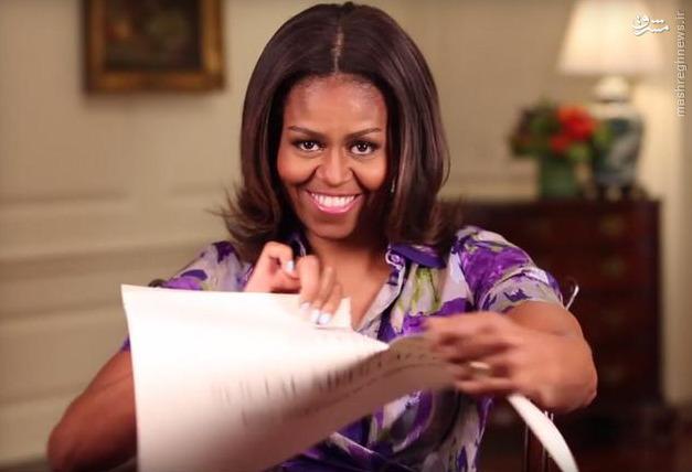 عکس/اقدام عجیب همسر اوباما