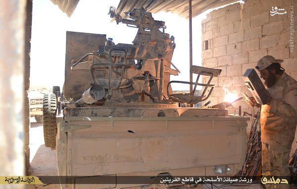 کارگاه اسلحه سازی داعش در قریتین دمشق+تصاویر