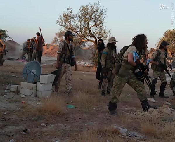 تروریستهای چچنی، ازبک و سعودی در سوریه+تصاویر