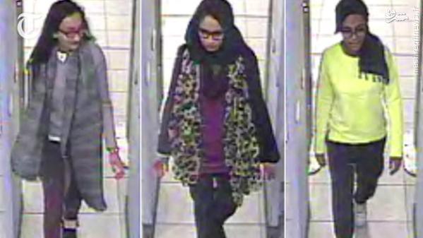دختران فراری انگلیسی در رقه سوریه+عکس و فیلم