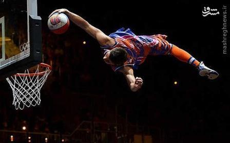 عکس/بسکتبال با طعم ژیمناستیک