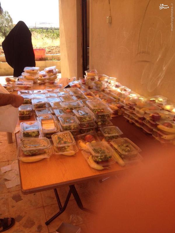 تهیه افطاری برای رزمندگان حزب الله در القلمون+تصاویر