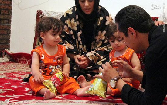 گرسنه ماندن 3 روزه دوقلوهای ایرانی +عکس