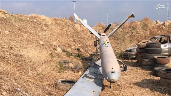 سقوط پهپاد رژیم صهیونیستی در شمال لبنان+عکس