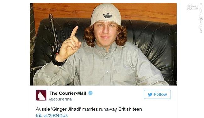 ازدواج دختر انگلیسی با یک داعشی استرالیایی +عکس
