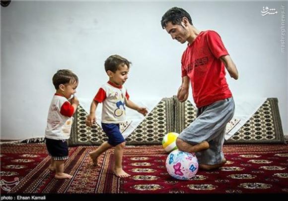 پدری که تنها درآمد زندگیاش «یارانه» است +تصاویر