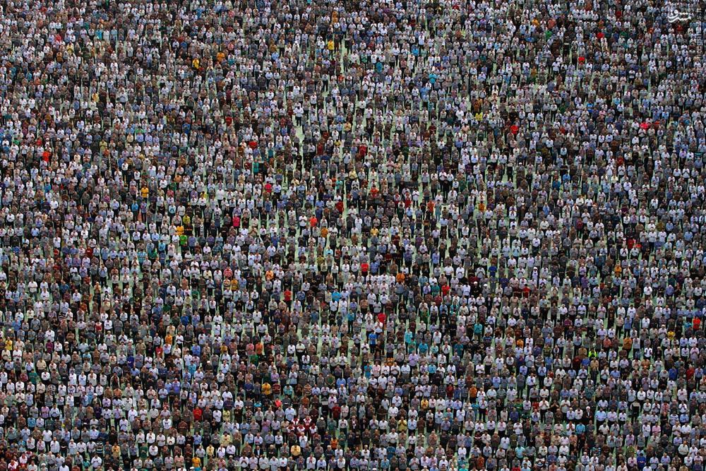 عکسی زیبا از نماز عید سعید فطر در مصلی تهران