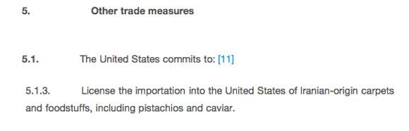 بندهای پسته ای در توافق هسته ای